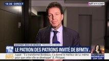 """Geoffroy Roux de Bézieux, président du Medef: """"On pense que le bonus-malus ça va détruire des emplois"""""""