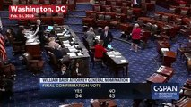 Senate Confirms William Barr As U.S. Attorney General In 54-45 Vote