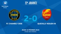 J22 : FC Chambly-Oise-Quevilly-Rouen Métropole (2-0), le résumé I 2018-2019
