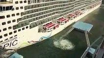 Quand un paquebot de croisière percute le quai en entrant au port