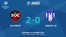 J22 : SO Cholet - JA Drancy (2-0), le résumé