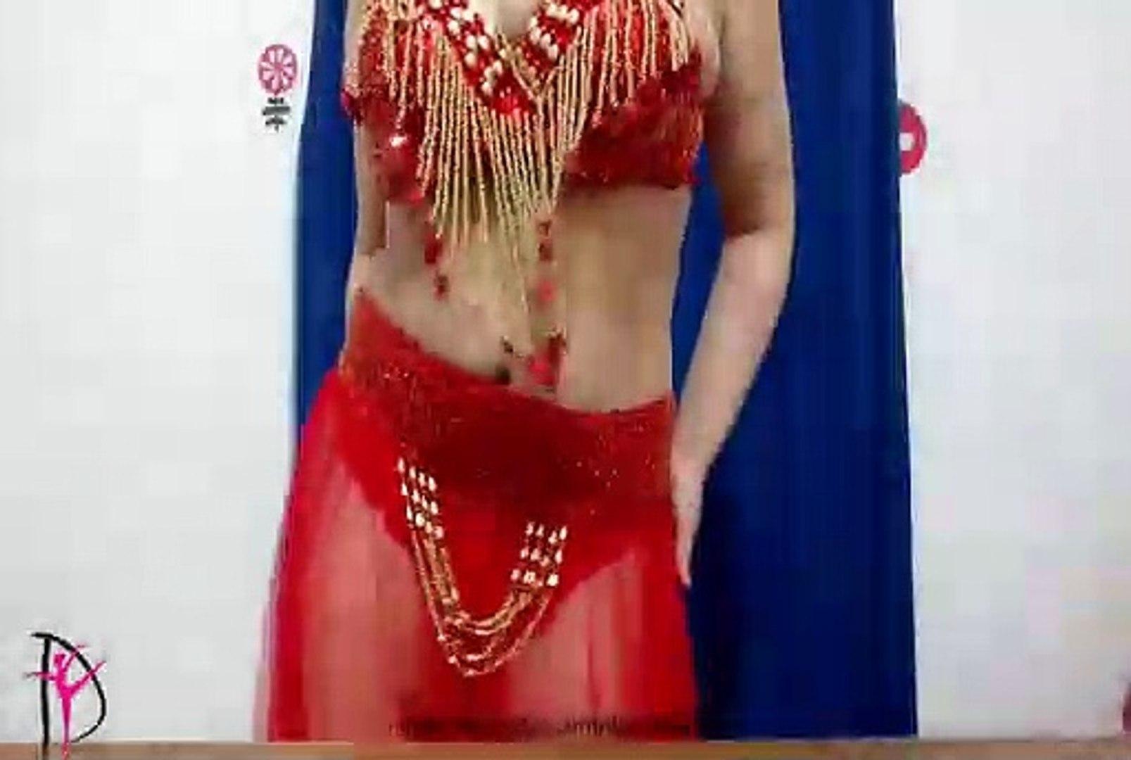 رقص شرقى مثير ببدلة رقص حمراء