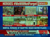 Pulwama  Mortal remains of CRPF soldiers reach native places, leaders reach out to martyr families