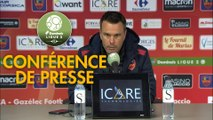 Conférence de presse Gazélec FC Ajaccio - Stade Brestois 29 (1-1) : Hervé DELLA MAGGIORE (GFCA) - Jean-Marc FURLAN (BREST) - 2018/2019