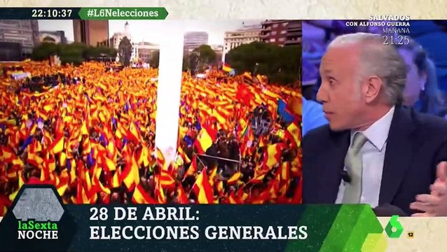 Eduardo Inda sobre la manifestación de Colon en La Sexta Noche