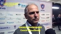 Hockey sur glace 2019-02-16 Daniel Bourdages Coach de l'Etoile Noire de Strasbourg, ½ finale de la Coupe de France 2019 Amiens VS Strasbourg