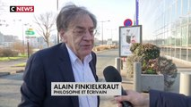Alain Finkielkraut s'exprime à propos des insultes antisémites qu'il a subi samedi, lors de la manifestation des Gilets jaunes