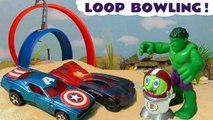 Hot Wheels Superhero Bowling with DC Comics Justice League & Marvel Studios Avengers 4 Superheroes with the Funny Funlings in this Cars Bowling Challenge - A Family Friendly Full Episode English Story for Kids