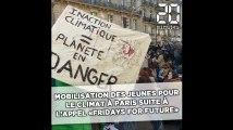 Une mobilisation des jeunes pour le climat à Paris suite à l'appel «Fridays for future» de Greta Thunberg
