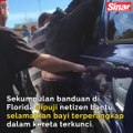 Banduan selamatkan bayi terperangkap dalam kereta