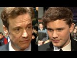 The Railway Man Premiere Interviews - Colin Firth & Jeremy Irvine