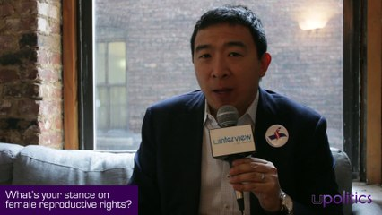 2020 Democratic Presidential Candidate Andrew Yang On Abortion Rights