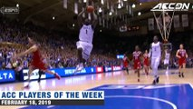 Zion Williamson   ACC Player of the Week