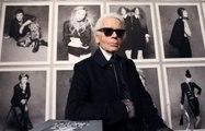 Portrait de Karl Lagerfeld, emblème de la maison Chanel
