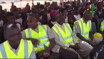RTB/Le ministre de l'éducation, StanislasOUAROdonne les premiers coups de pelles du lycée scientifique de bobo-Dioulasso