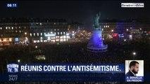 Paris, Montpellier, Strasbourg... Des milliers de personnes se sont rassemblées en France pour protester contre l'antisémitisme