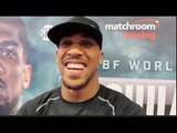 ANTHONY JOSHUA (UNCUT) ON DOMINIC BREAZEALE, GYPSY KING TYSON FURY, DILLIAN WHYTE & KHAN v CANELO
