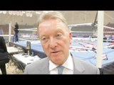 FRANK WARREN ON LIAM WILLIAMS EXPLOSIVE WIN OVER CORCORAN & RIGONDEAUX /JAZZA DICKENS INJURY