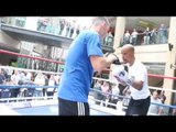 MAYWEATHER STYLE! - ARGENIS MENDEZ FULL PADWORK OUT AHEAD OF LUKE CAMPBELL CLASH IN LEEDS (FOOTAGE)