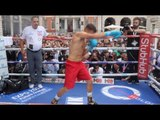 GENNADY GOLOVKIN SHADOW BOXING - 'GGG' TAKES OFF TOP TO REVEAL PHYSIQUE AHEAD OF KELL BROOK CLASH