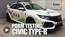 Honda Civic Type R being tested by PDRM