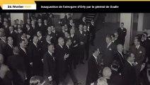 Inauguration de l'aérogare de Paris-Orly par le général de Gaulle