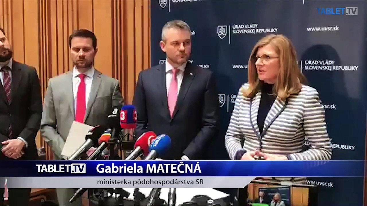 ZÁZNAM: Brífing premiéra P. Pellegriniho a ministerky G. Matečnej