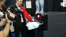A machine that irons and folds your clothes