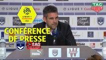 Conférence de presse Girondins de Bordeaux - EA Guingamp (0-0) : Eric BEDOUET (GdB) - Jocelyn GOURVENNEC (EAG) - 2018/2019