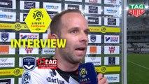 Interview de fin de match : Girondins de Bordeaux - EA Guingamp (0-0)  - Résumé - (GdB-EAG) / 2018-19