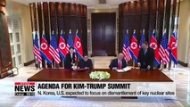 N. Korea, U.S. expected to focus on dismantlement of key nuclear sites during summit