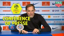 Conférence de presse Paris Saint-Germain - Montpellier Hérault SC (5-1) : Thomas TUCHEL (PARIS) - Michel DER ZAKARIAN (MHSC) - 2018/2019