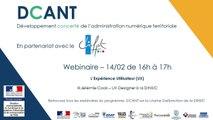Webinaire DCANT #15 – L'expérience utilisateur (UX) , un outil pour les collectivités territoriales