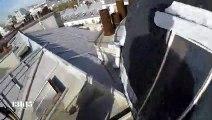 """Quand un """"explorateur urbain"""" visite les toits de Montmartre en défiant les lois de la gravitation universelle"""