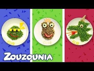 Baby Food Art with Clio | 3 Πεντανόστιμες ιδέες με αρακά  Healthy-n-Yummy