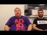 INTRODUCING SIAR OZGUL (12-0) BARRY SMITH ON SPARRING AT THE MATCHROOM GYM OHARA DAVIES TWEETS