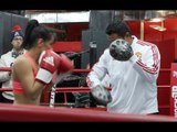 YAZMIN RIVAS - FULL PAD WORKOUT AHEAD OF AMANDA SERRANO CLASH / SERRANO v RIVAS