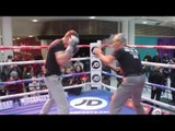 COOL HANDS FAST HANDS! -  LUKE CAMPBELL UNLEASHES THE POWER ON PADS WITH TRAINER JORGE RUBIO
