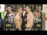 LENNY DAWS v ANTHONY YIGIT - OFFICIAL WEIGH IN & HEAD TO HEAD