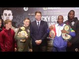 'STILL UNDEFEATED!' - 'ALRIGHT BE QUIET' -PHOTO CALL EDDIE HEARN, RICKY BURNS, INDONGO, UNDERCARD