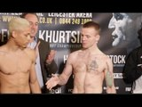 HANDS SOLO AS HANDSHAKE REFUSED! LYON WOODSTOCK v PAUL HOLT - OFFICIAL WEIGH IN & HEAD TO HEAD