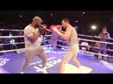 WLADIMIR KLITSCHKO SHOWS OFF HIS HAND SPEED IN FRONT OF ANTHONY JOSHUA / JOSHUA v KLITSCHKO