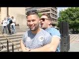TONY BELLEW & EDDIE HEARN RE-ENACT THE MOMENT WHERE BELLEW MUGGED HEARN OFF AFTER THE HAYE FIGHT