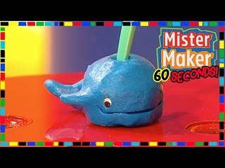 Whale Toothbrush Holder  - HOW TO MAKE IN 60 SECONDS | Mister Maker
