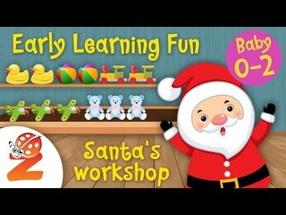 Early Learning Fun #4 | Santa's Workshop | Zouzounia Baby | Learn to Count | Educational