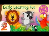 Early Learning Fun #8 Jungle Animals and their Sounds  Counting & Colors | Educational