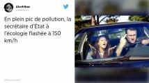 En plein pic de pollution, la voiture de la secrétaire d'État à l'Écologie prise en excès de vites