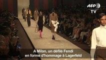 Milan: un défilé Fendi en forme d'hommage à Lagerfeld