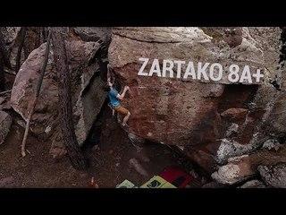 Nils Favre Climbs Highball Zartako 8A+ In Albarracin