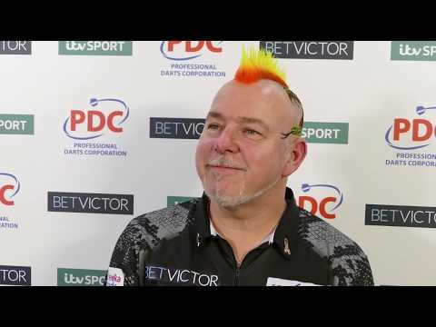 Peter Wright after his 10-9 win over Adrian Lewis | BetVictor Masters 2019